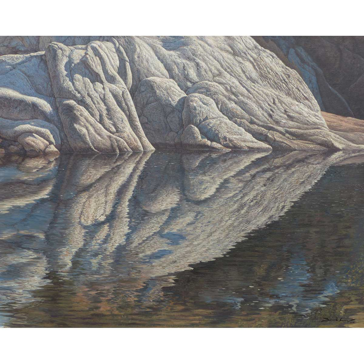 BERNARDO LARA - Simetría. Óleo sobre lino. 81x65cm.