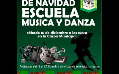Concierto de Navidad. Escuela Municipal de Música de Los Molinos.