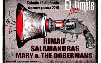 Salamandras + Rimau + Mary & The Dobermans