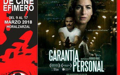 "Cine: ""Garantía personal"""