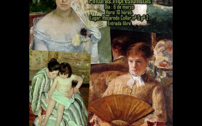 """Conferencia """"Pintoras Impresionistas"""" con Belén García Naharro."""