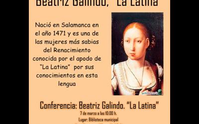 """Conferencia """"Beatriz Galindo, La Latina"""" con Felisa Rodrigo."""