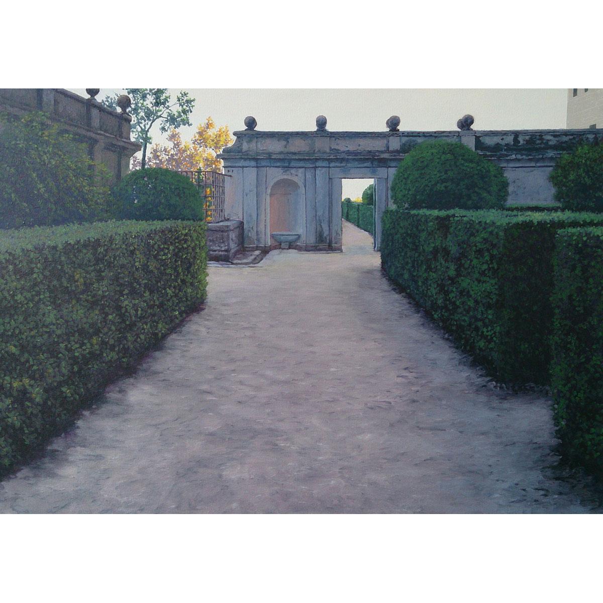 TOMÁS GUZMÁN - Jardines de El Escorial (50x70cm)