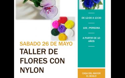 Taller: Flores con nylon