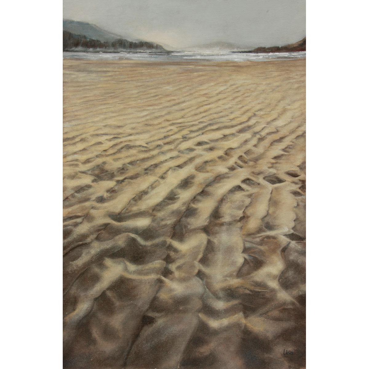 NURIA LIRIA - Surcos. Óleo sobre lienzo. 90x60cm.