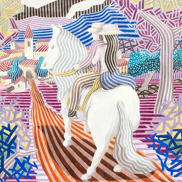 """Javier Ortas: """"Acuarelas de líneas y luz"""""""