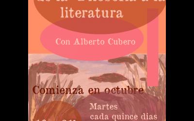Taller: Aportaciones de la filosofía y el pensamiento crítico a la literatura.
