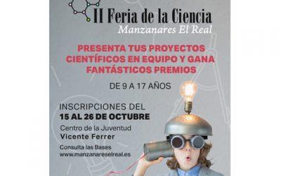 Inscripciones para la II Feria de la Ciencia de Manzanares El Real.