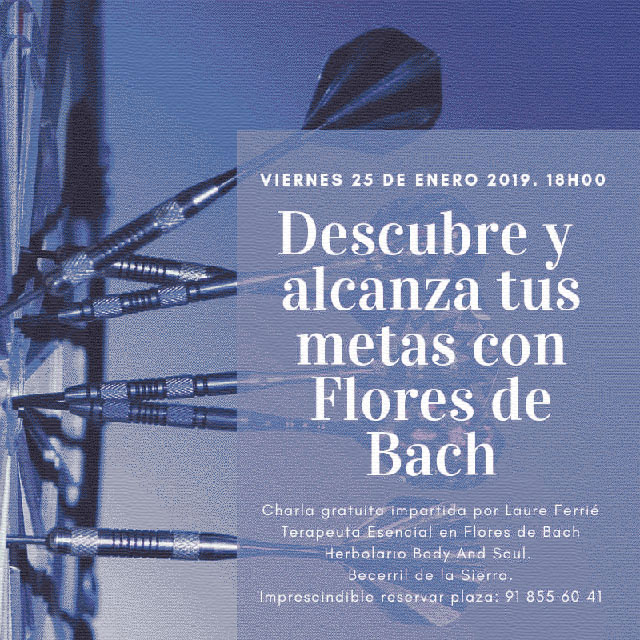 """bec74ef9d Charla: """"Descubre y alcanza tus metas con Flores de Bach"""" - la darsena"""