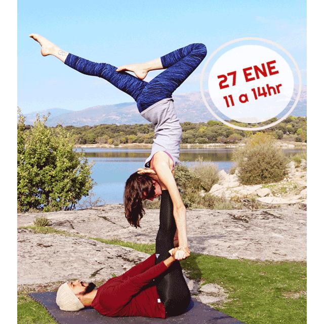 Acro Yoga en Manzanares El Real.