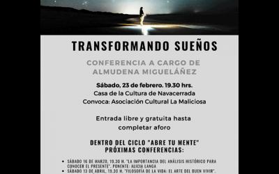 """Conferencia: """"Trasformando sueños""""."""