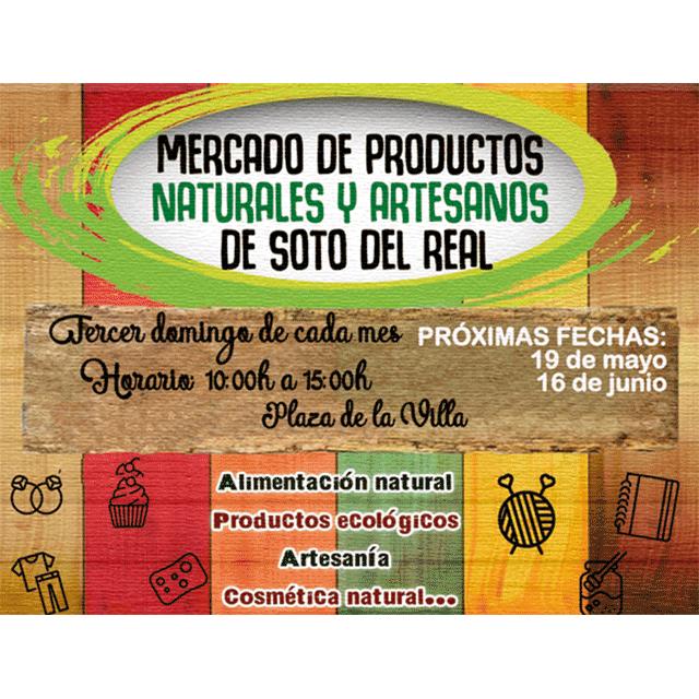 Mercado de productos naturales y artesanos, en Soto del Real.