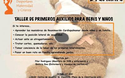 Taller: Primeros auxilios para bebés y niñ@s.