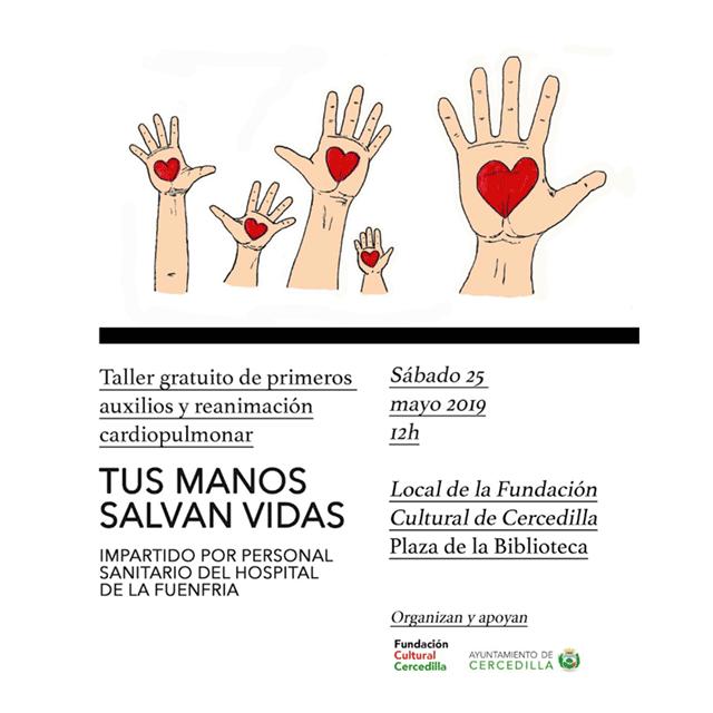 "Taller: ""Tus manos salvan vidas"""