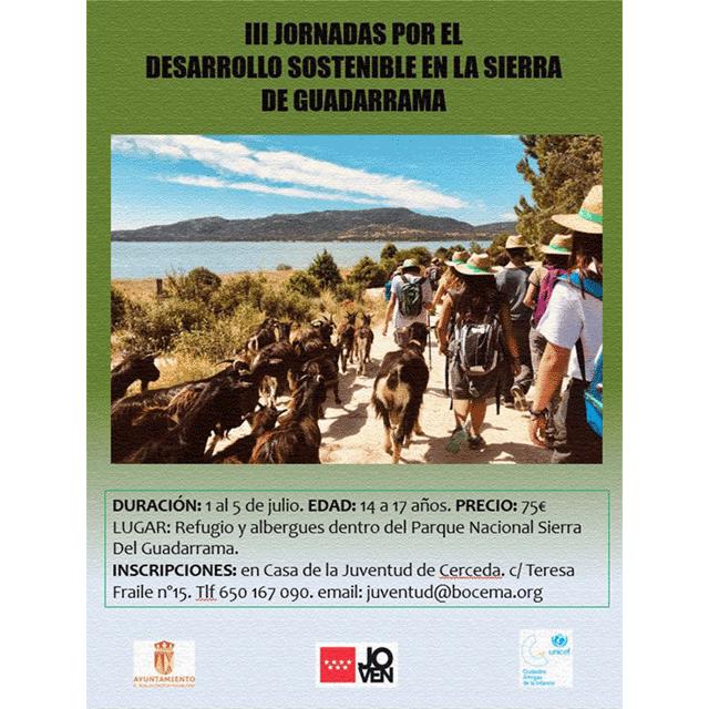III Jornadas por el Desarrollo Sostenible en la Sierra de Guadarrama.