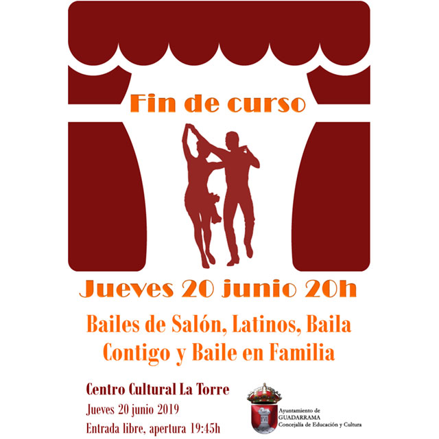 Actuación de fin de curso: Alumnos de baile de Guadarrama.