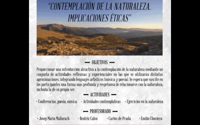 """Curso: """"Contemplación de la naturaleza. Implicaciones éticas"""""""