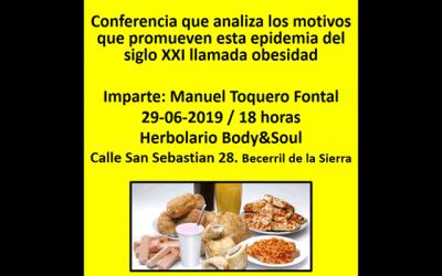 """Conferencia: """"Obesidad: un serio problema social"""""""