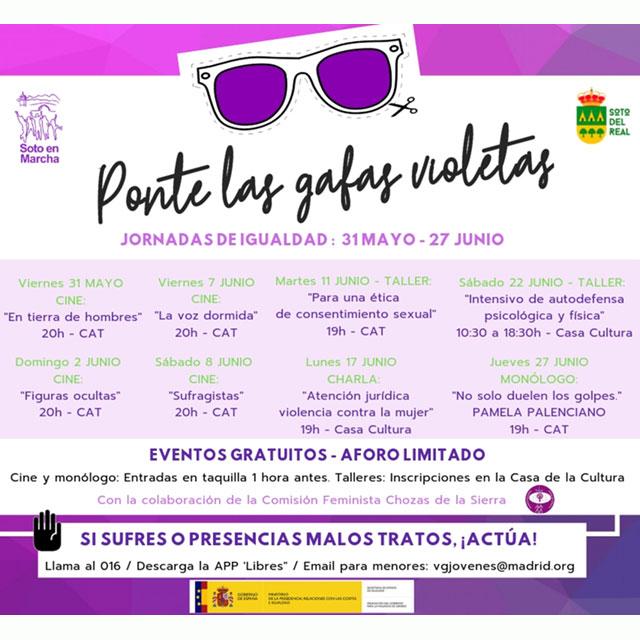 """""""Ponte las gafas violetas"""". Jornadas de Igualdad."""