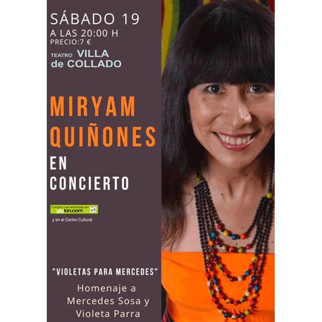 """Miryam Quiñones: """"Violetas para Mercedes"""""""