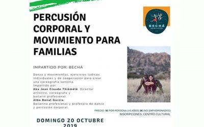Taller: Percusión corporal y movimiento para familias