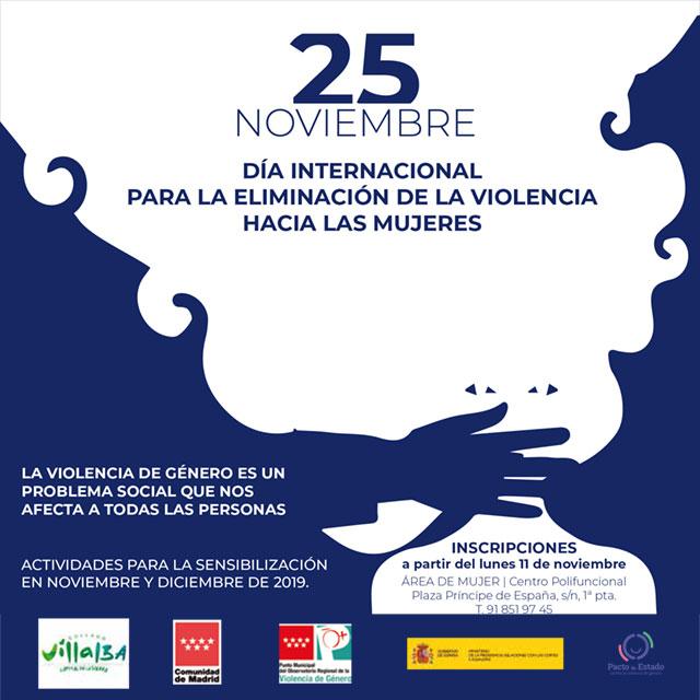 25N Collado Villalba: Día Internacional   para  la   Eliminación   de  la Violencia hacia las Mujeres.