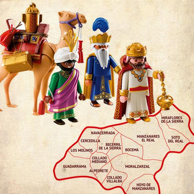 Los Reyes Magos visitan los pueblos de la Sierra…