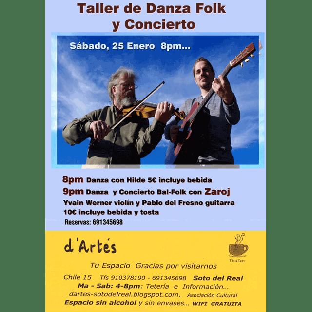 Danza Folk: Taller y concierto.