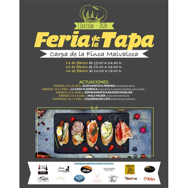 I Feria de la Tapa de Collado Villalba, con actuaciones musicales.