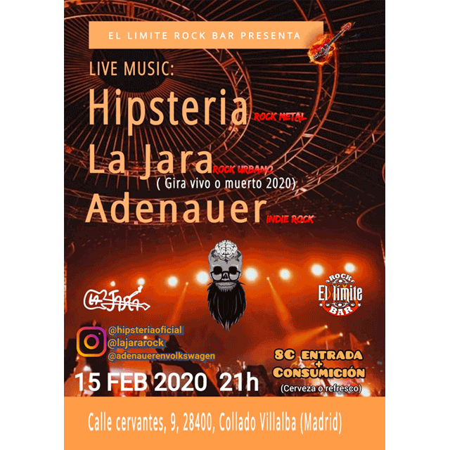 Hipsteria + La Jara + Adenauer