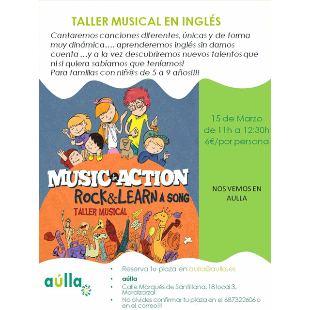 Taller Musical en inglés: «Rock & Learn a song»