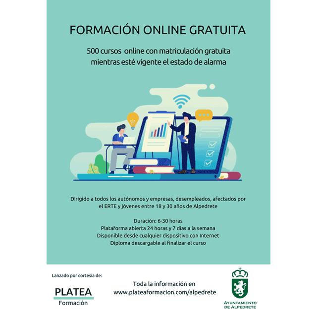 Formación on-line gratuita, en Alpedrete.