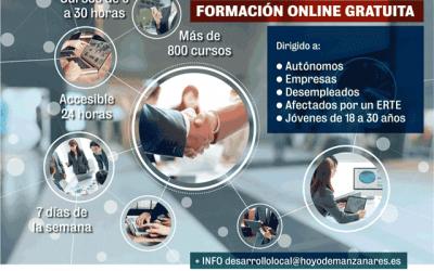 Formación on-line gratuita, en Hoyo de Manzanares.
