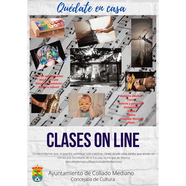 Clases on-line de la Escuela Municipal de Música de Collado Mediano.