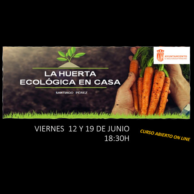 """Curso online: """"La Huerta ecológica en casa"""""""