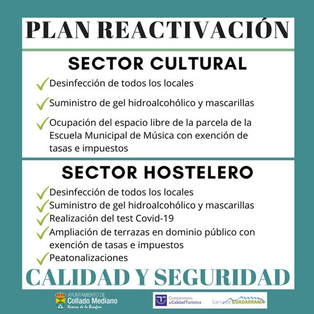 Plan de reactivación en apoyo al sector hostelero y cultural.