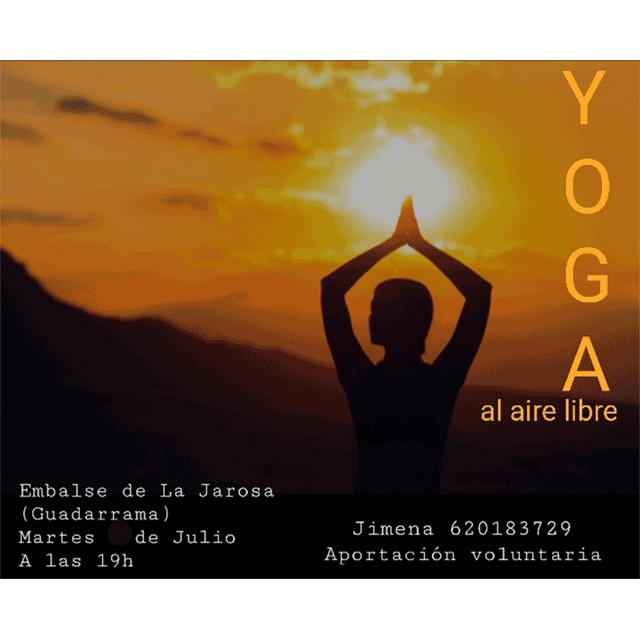 Yoga al aire libre en La Jarosa