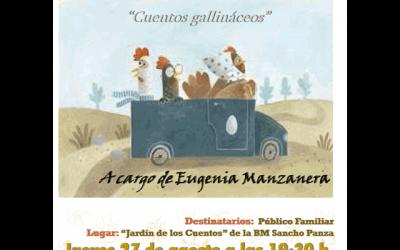 """Eugenia Manzanera: """"Cuentos Gallináceos"""""""