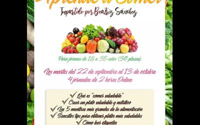 """Jornadas Saludables (on-line): """"Aprende a comer"""""""