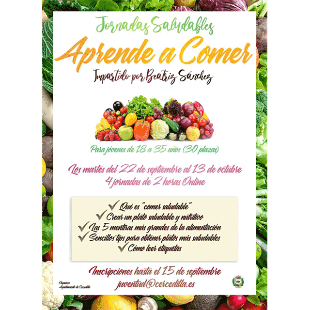 "Jornadas Saludables (on-line): ""Aprende a comer"""