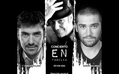 """""""Concierto en familia"""": Victor Díaz, Carlos Solano y Adrián Salzedo."""