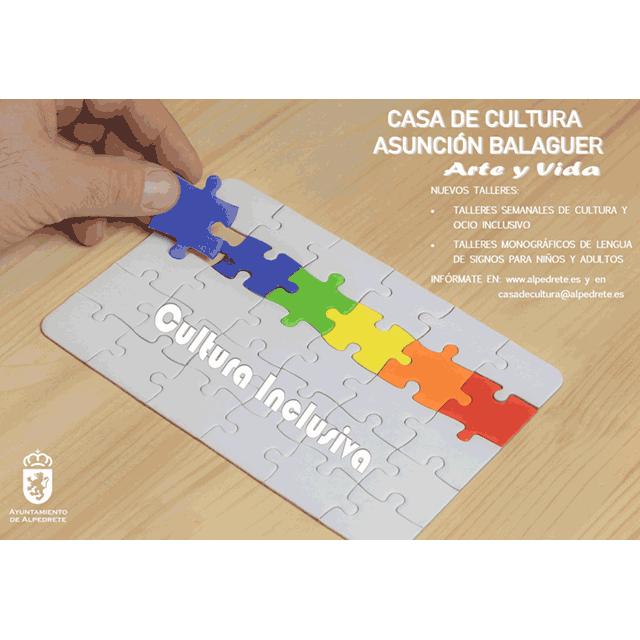 Nuevos talleres y monográficos de cultura y ocio inclusivo.