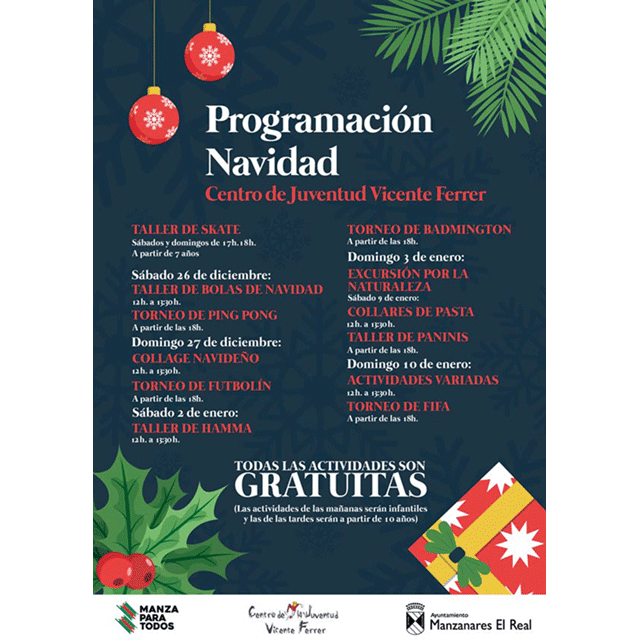 Navidad Joven 2020, en Manzanares El Real.