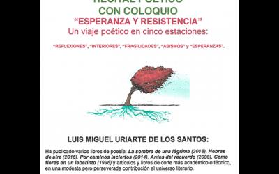 Recital poético y coloquio: «Esperanza y resistencia»