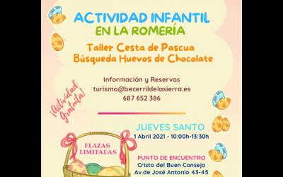 Actividad infantil: Cesta y huevos de Pascua.
