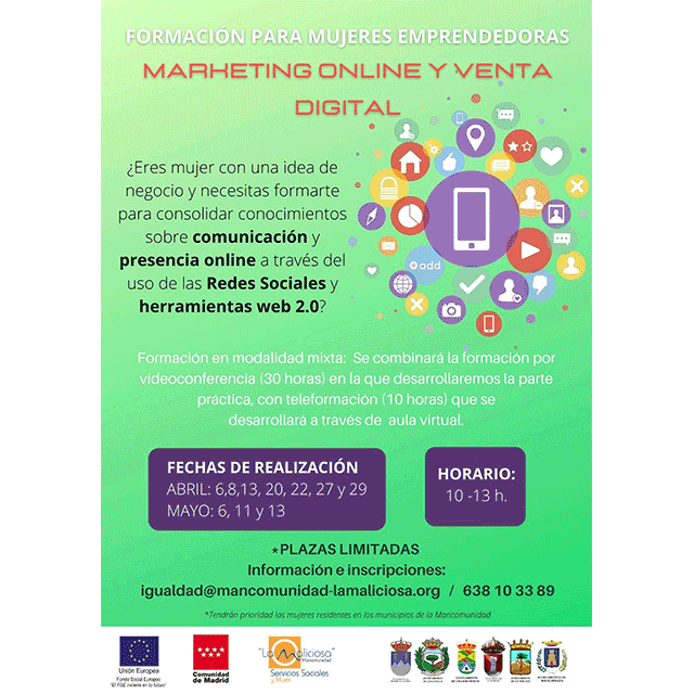 "Formación para mujeres emprendedoras: ""Marketing online y venta digital"""