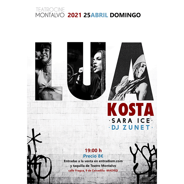 Lua Kosta, con Sara Ice y Dj Zunet