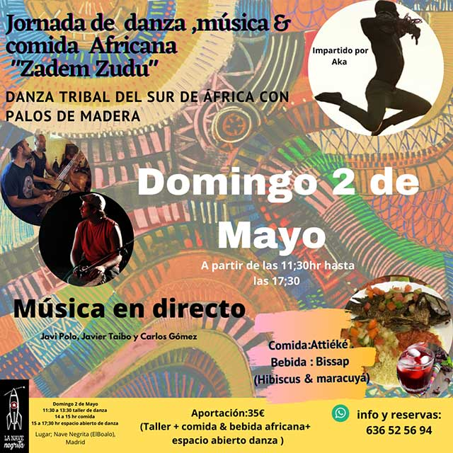 "Jornada de danza, música y comida africana: ""Zadem Zudu"""