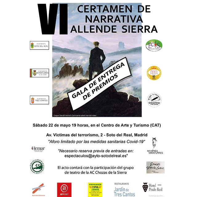 Entrega de premios: VI Certamen de Narrativa Allende Sierra (2021).