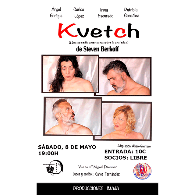 """""""Kvetch (Una comedia americana sobre la ansiedad)"""", de Steven Berkoff."""
